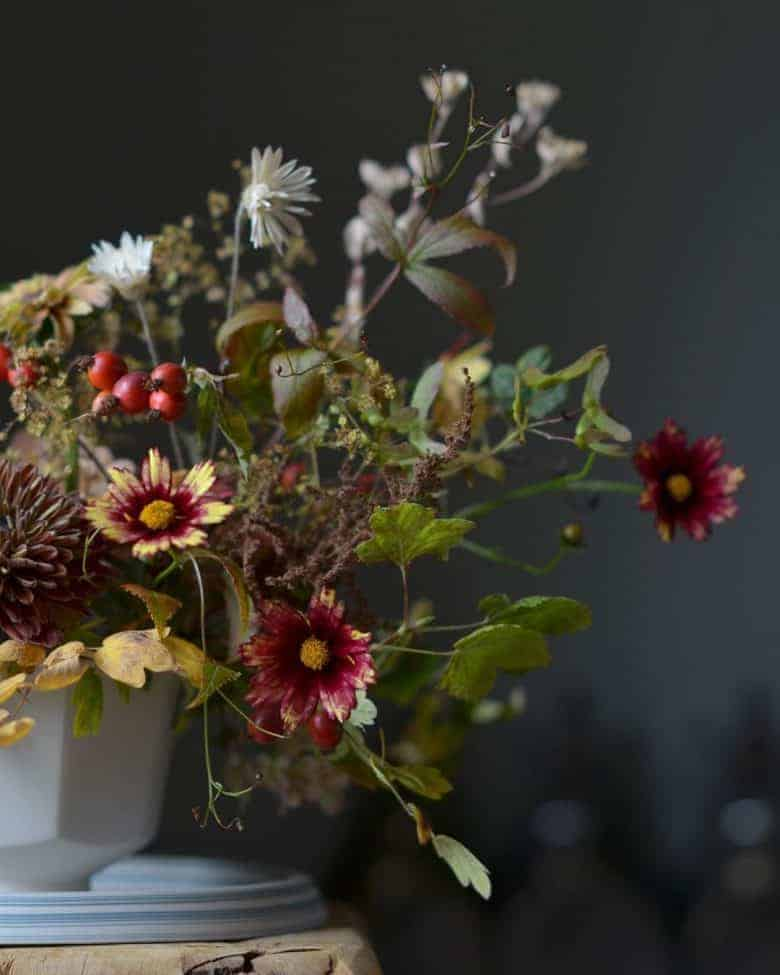 autumn flowers arrangement coreopsis dahlias british flowers #autumn #flowers #arrangement #britishflowes #frombritainwithlove